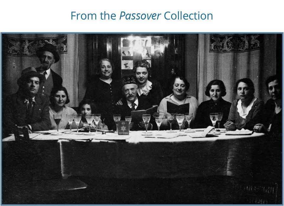 Passover Meal at the Romanin Family, 3rd right Nela Fano, Venice, Italy, 1933. Beit Hatfutsot, The Oster Visual Documentation Center, courtesy of Nela Fano